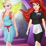 Ariel And Elsa Career Dress Up