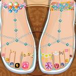 Rapunzel Pedicure Toes